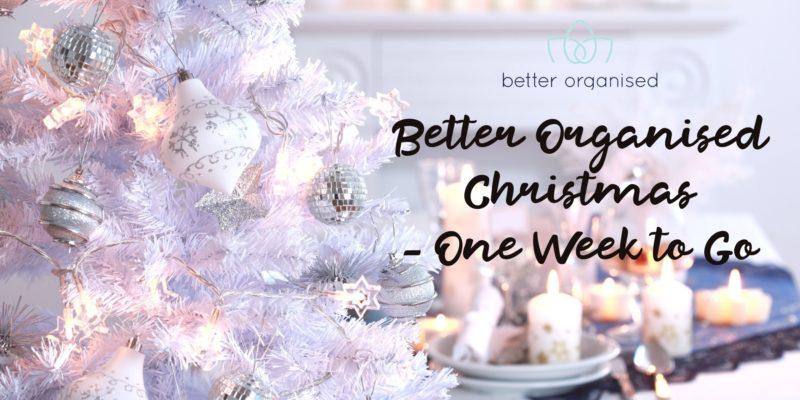 better organised christmas countdown