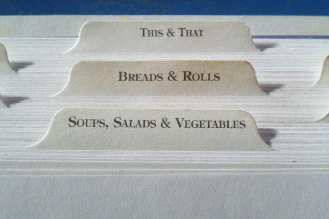 Organised Recipe Tab Index Dividers