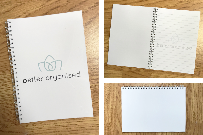 BETTER ORGANISED A5 NOTEBOOK